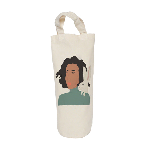 Lady and hare bottle bag