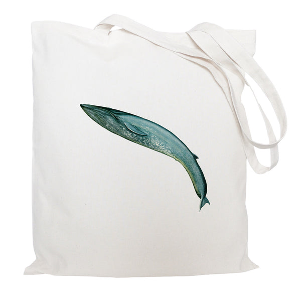 Leaping whale tote bag