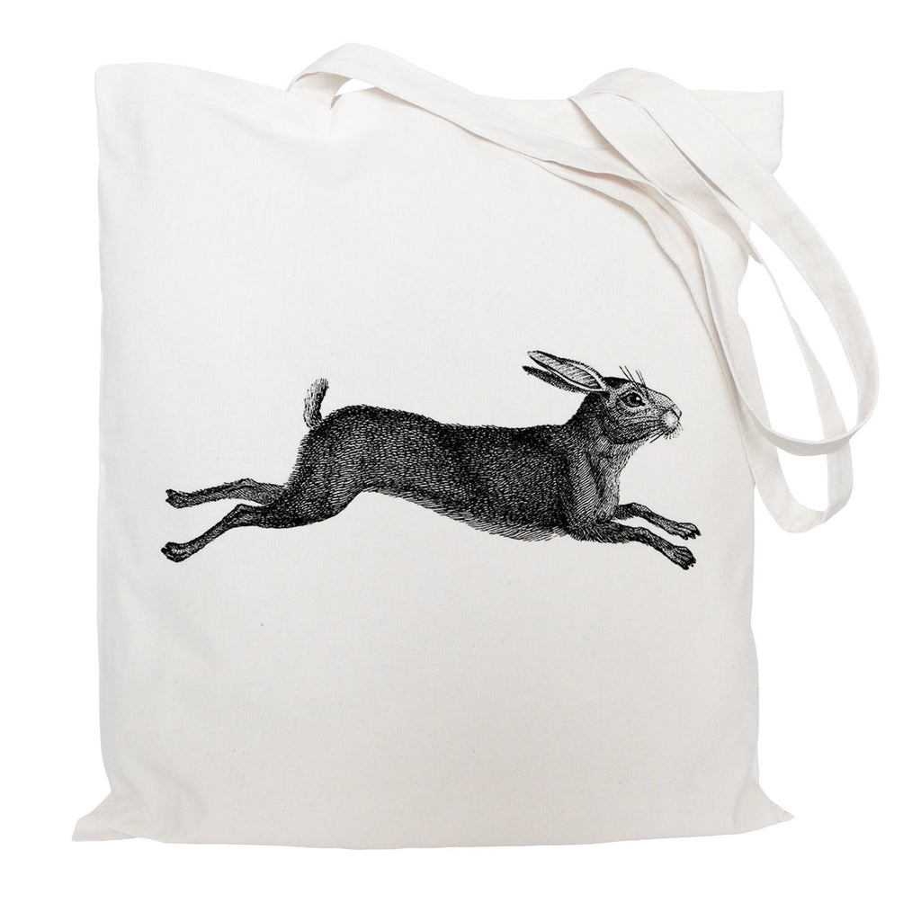 Leaping hare tote bag