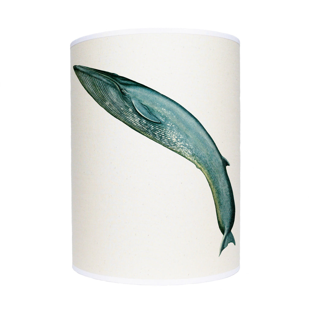 Leaping blue whale lamp shade/ ceiling shade