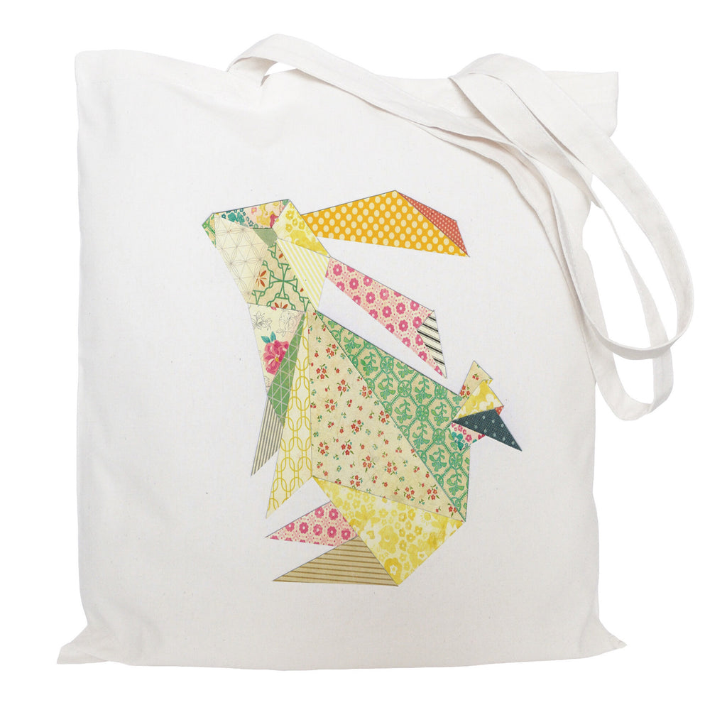 Triangle rabbit tote bag