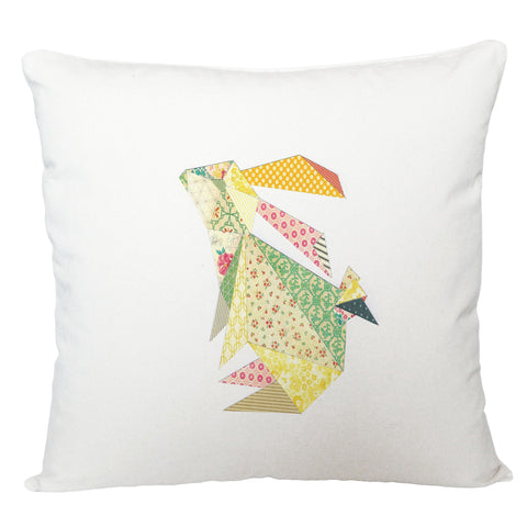 Triangle rabbit cushion cover/ light rabbit