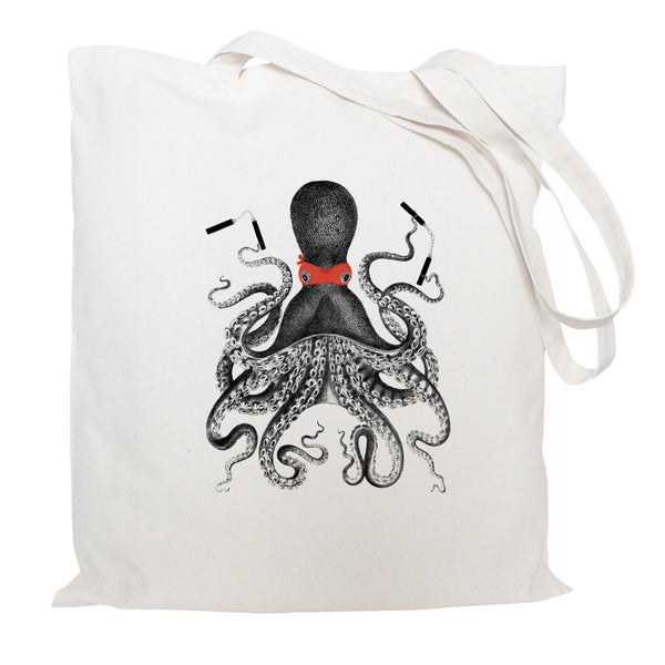 Ninja octopus tote bag