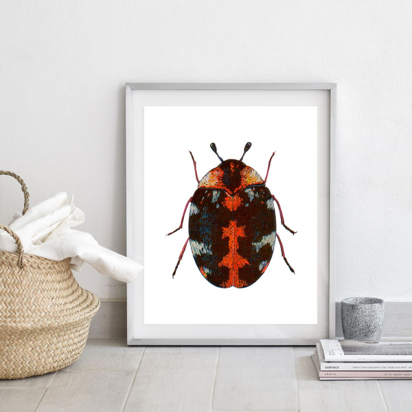 Red beetle print/ wall art