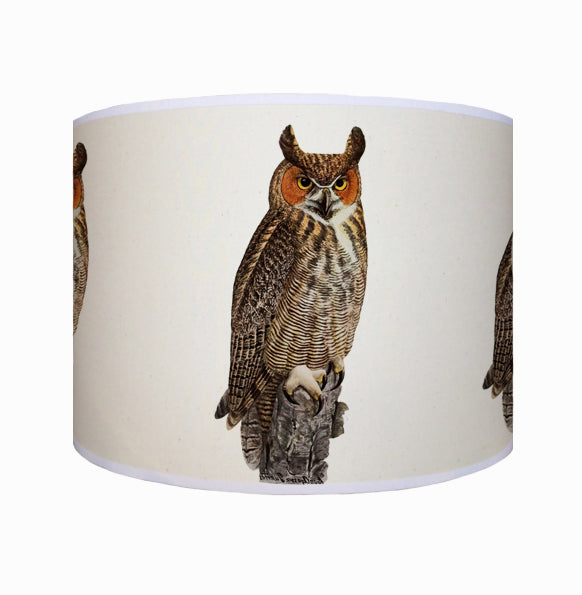 Owl on a log shade