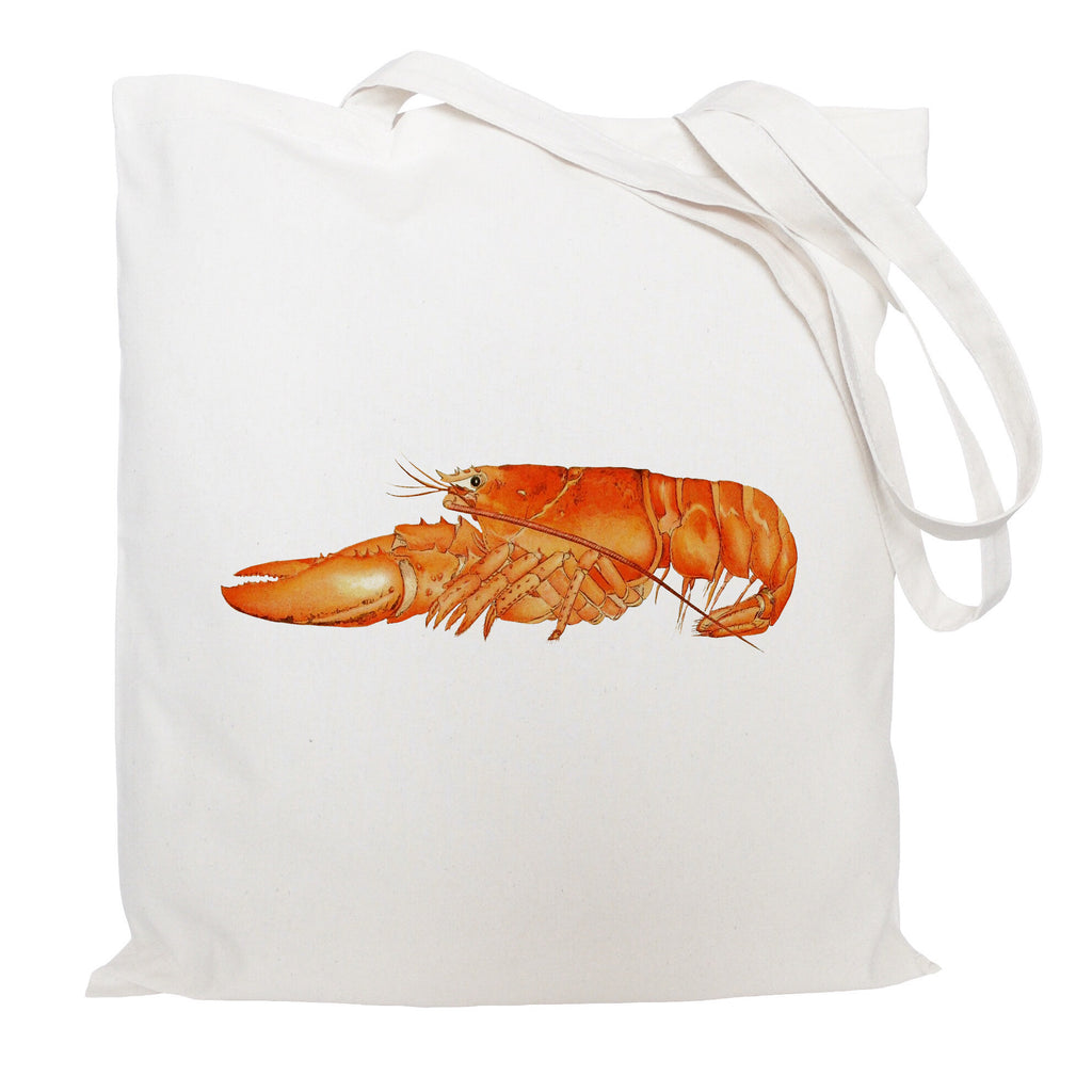 Orange lobster tote bag
