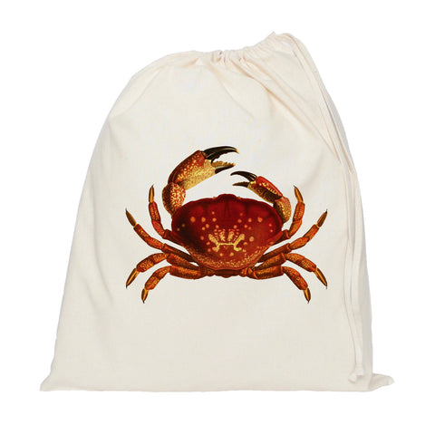 Red crab drawstring bag