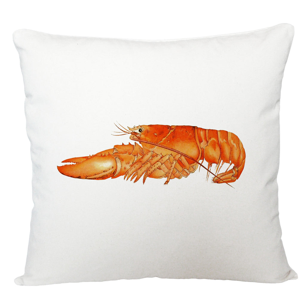 Orange lobster cushion cover