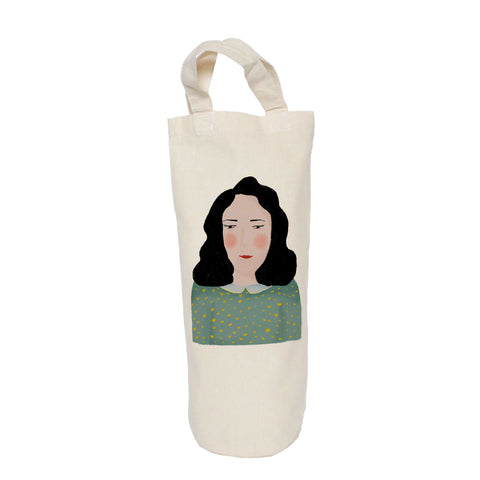 Portrait of lady bottle bag