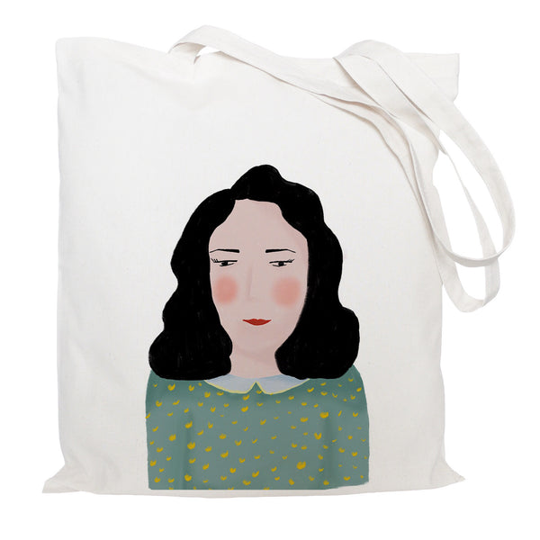 Portrait of lady tote bag