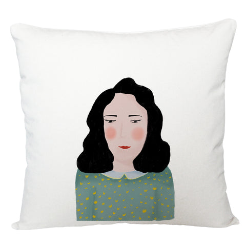 Portrait of lady cushion cover