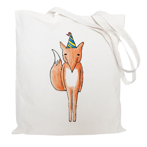 Party fox tote bag