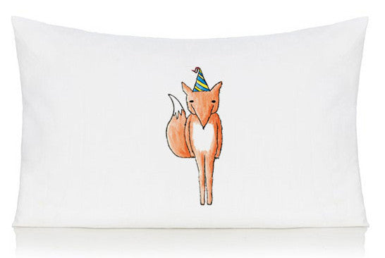 Party fox pillow case