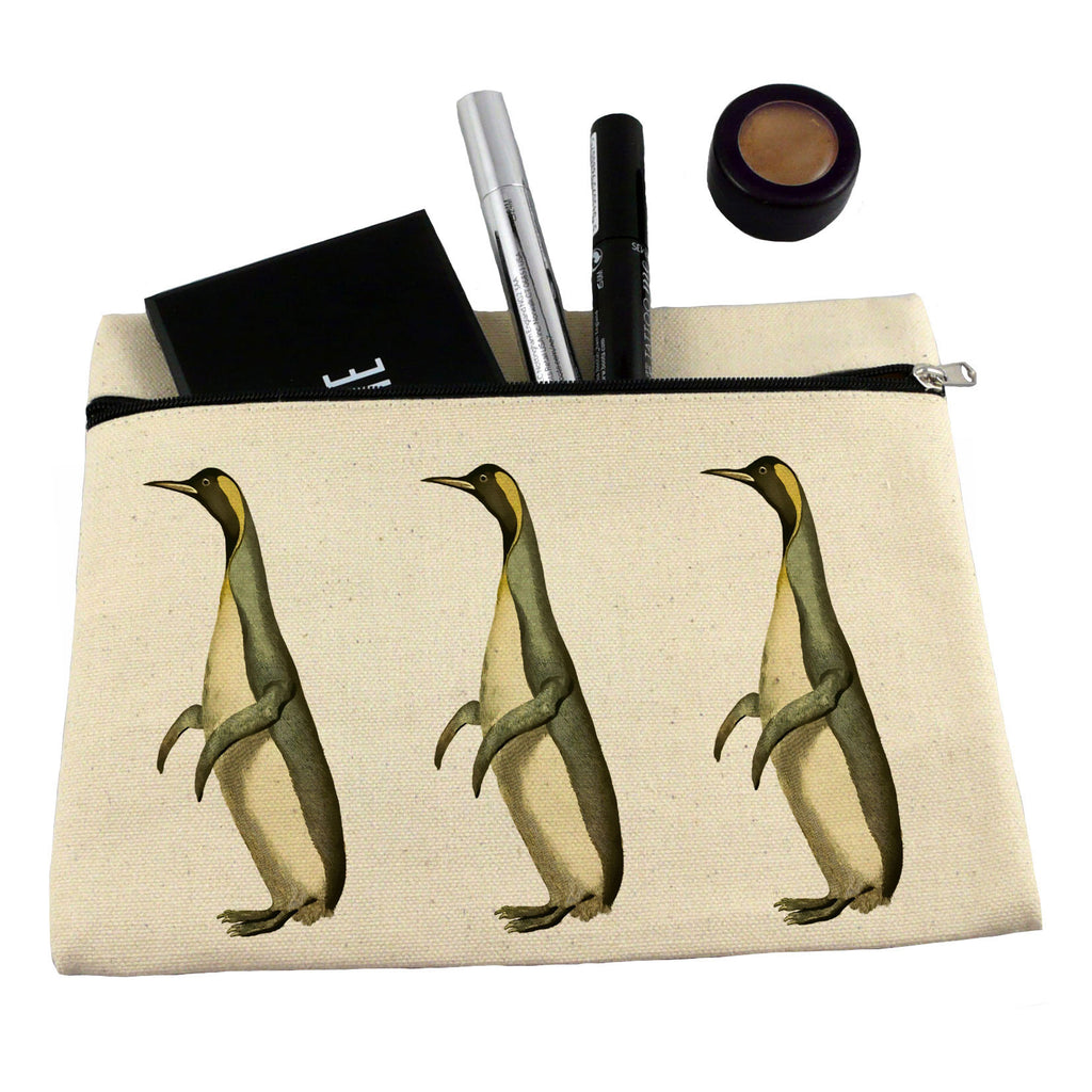 Penguins make up bag/ pencil case