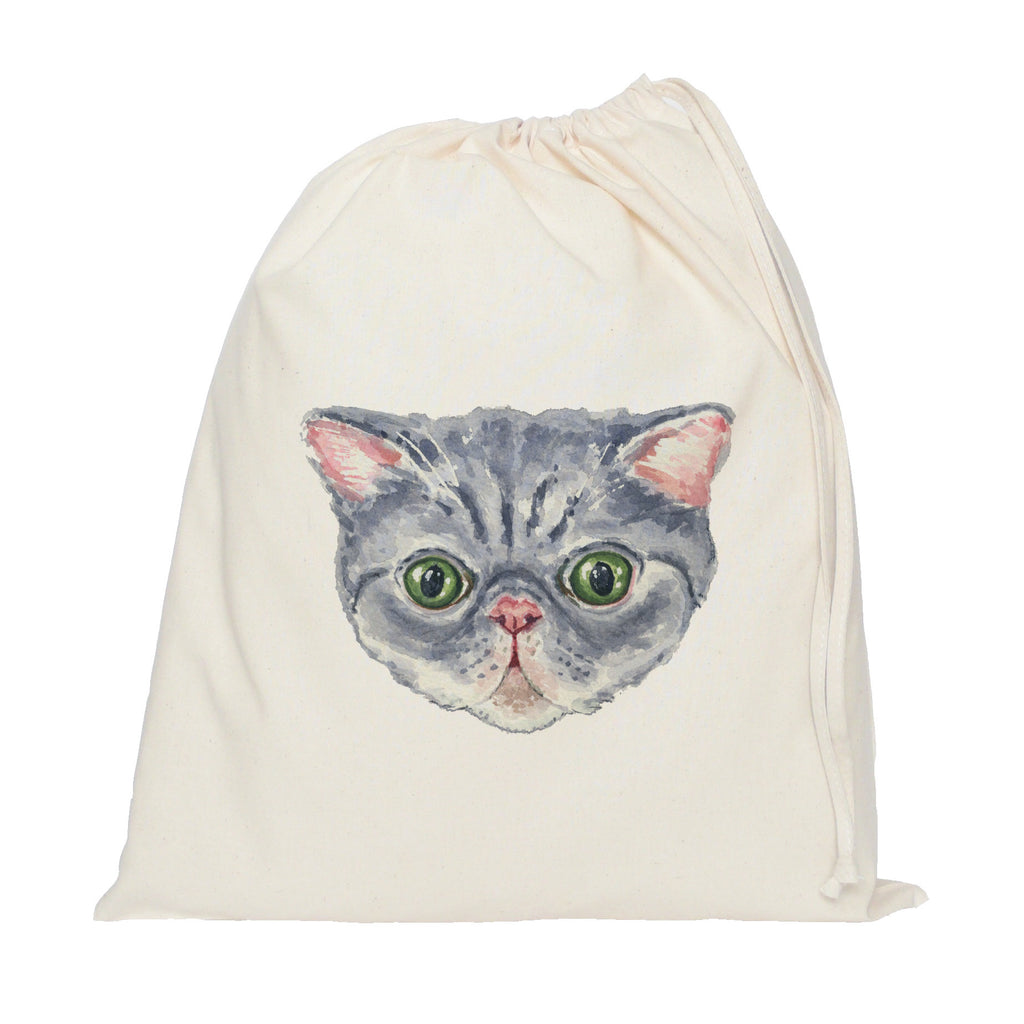 Persian cat drawstring bag