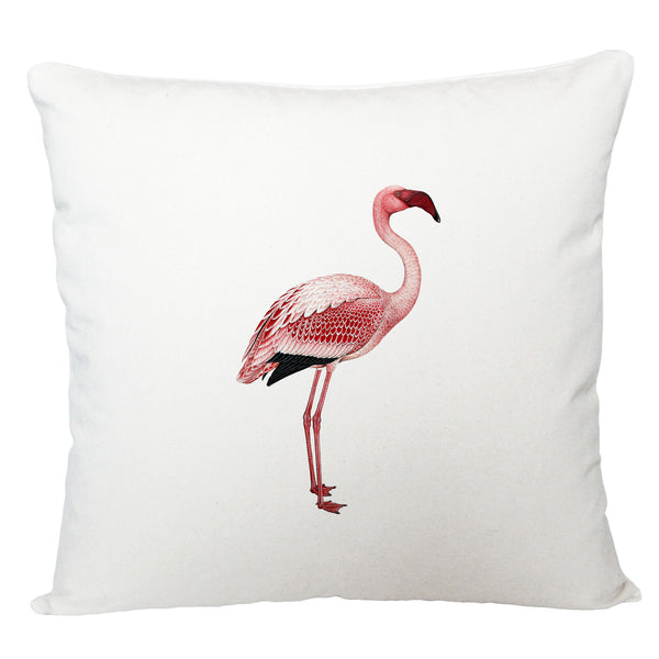 Standing pink flamingo cushion cover