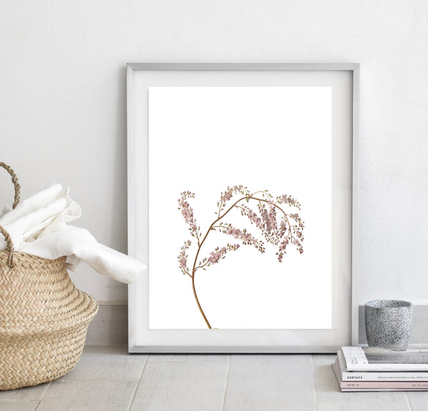 Pink flower print/ wall art