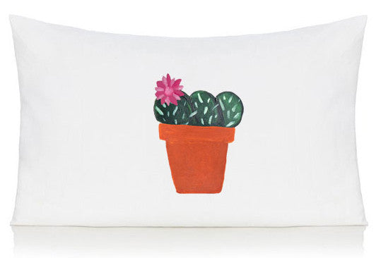 Flower cactus pillow case