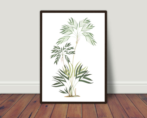 Tropical leaves print/ wall art