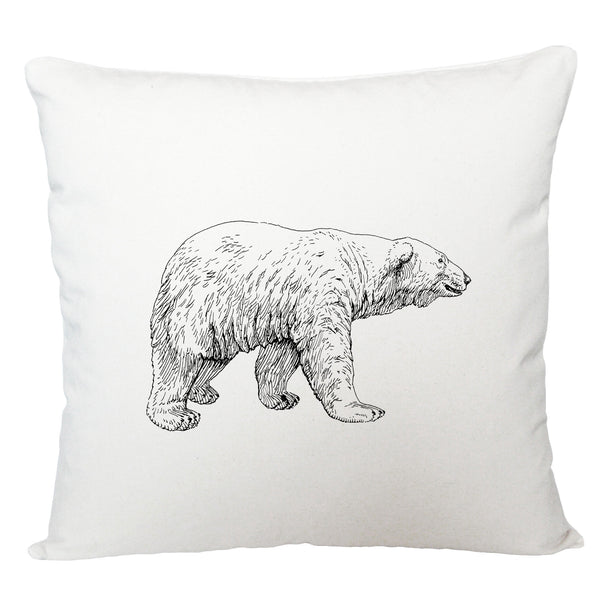 Polar bear cushion cover