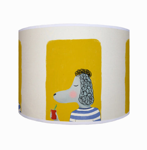 Poodle with drink shade