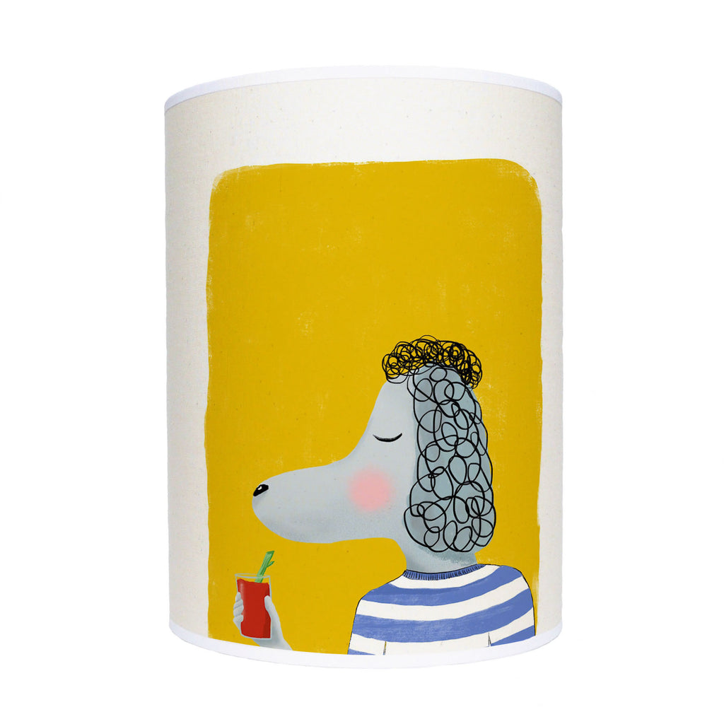 Poodle with drink lamp shade/ ceiling shade