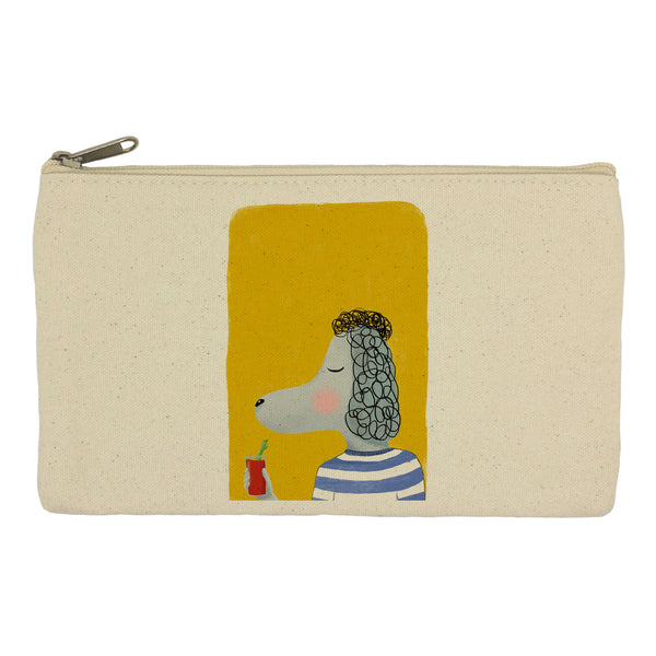 Poodle with drink pencil case