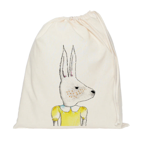 Rabbit drawstring bag