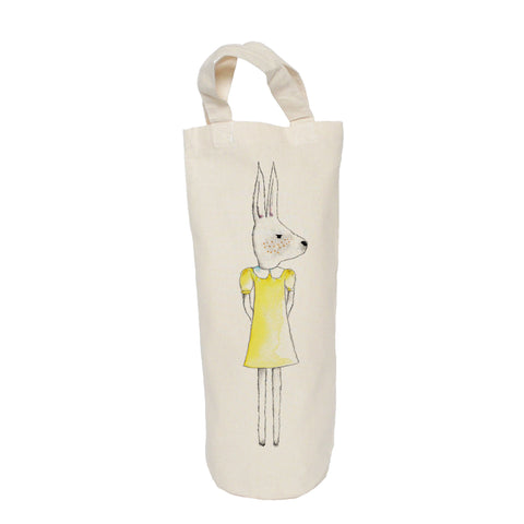 Rabbit in yellow dress bottle bag