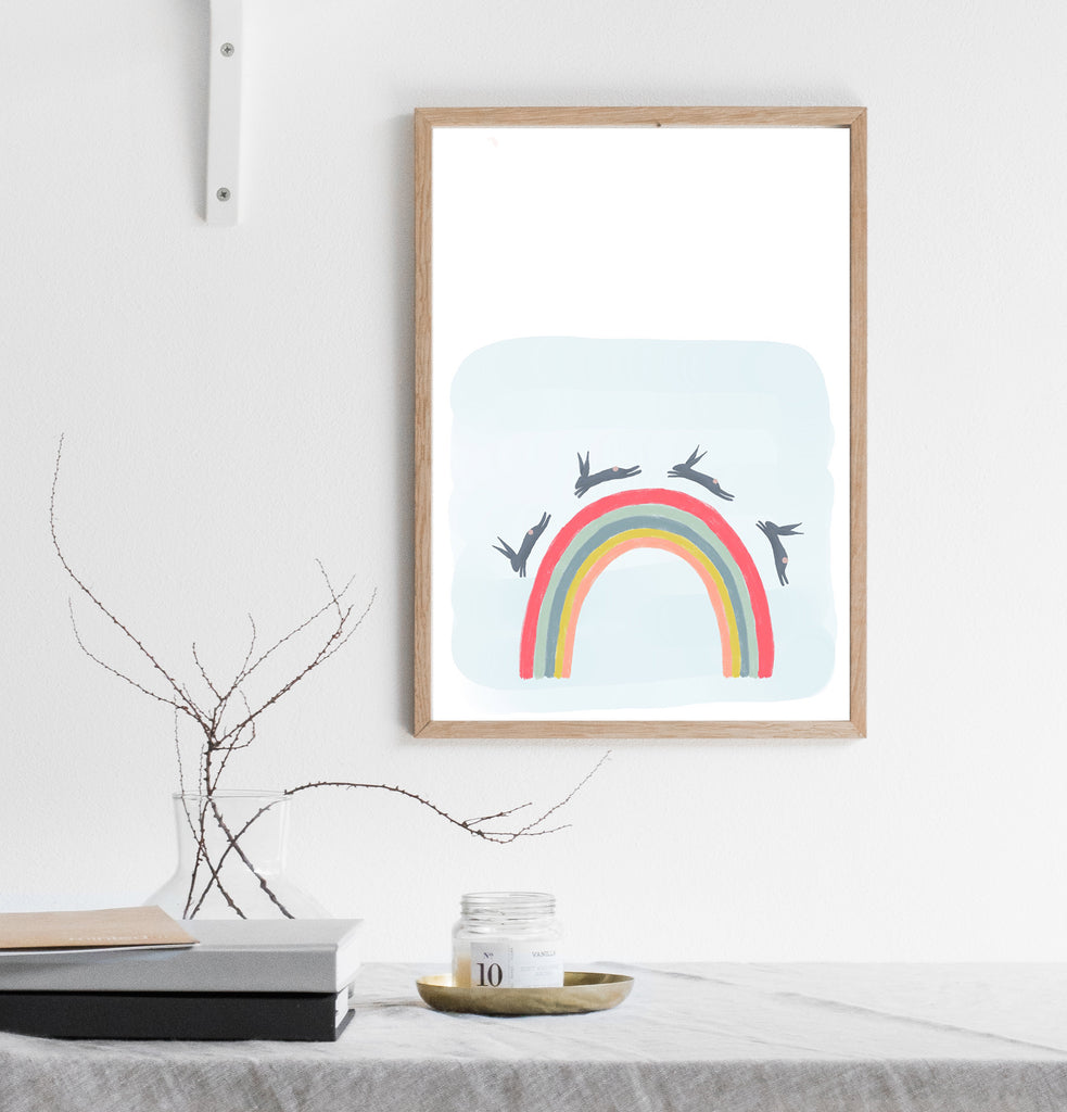 Rainbow print/ wall art