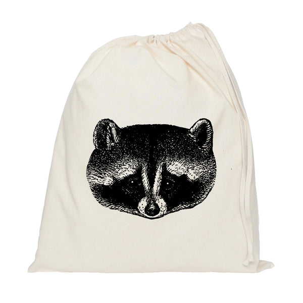 Raccoon drawstring bag