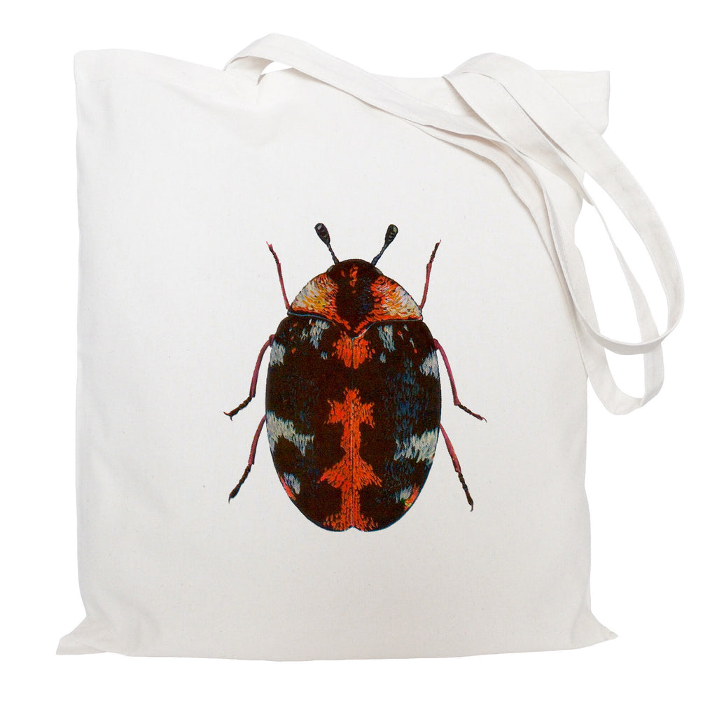 Red beetle tote bag