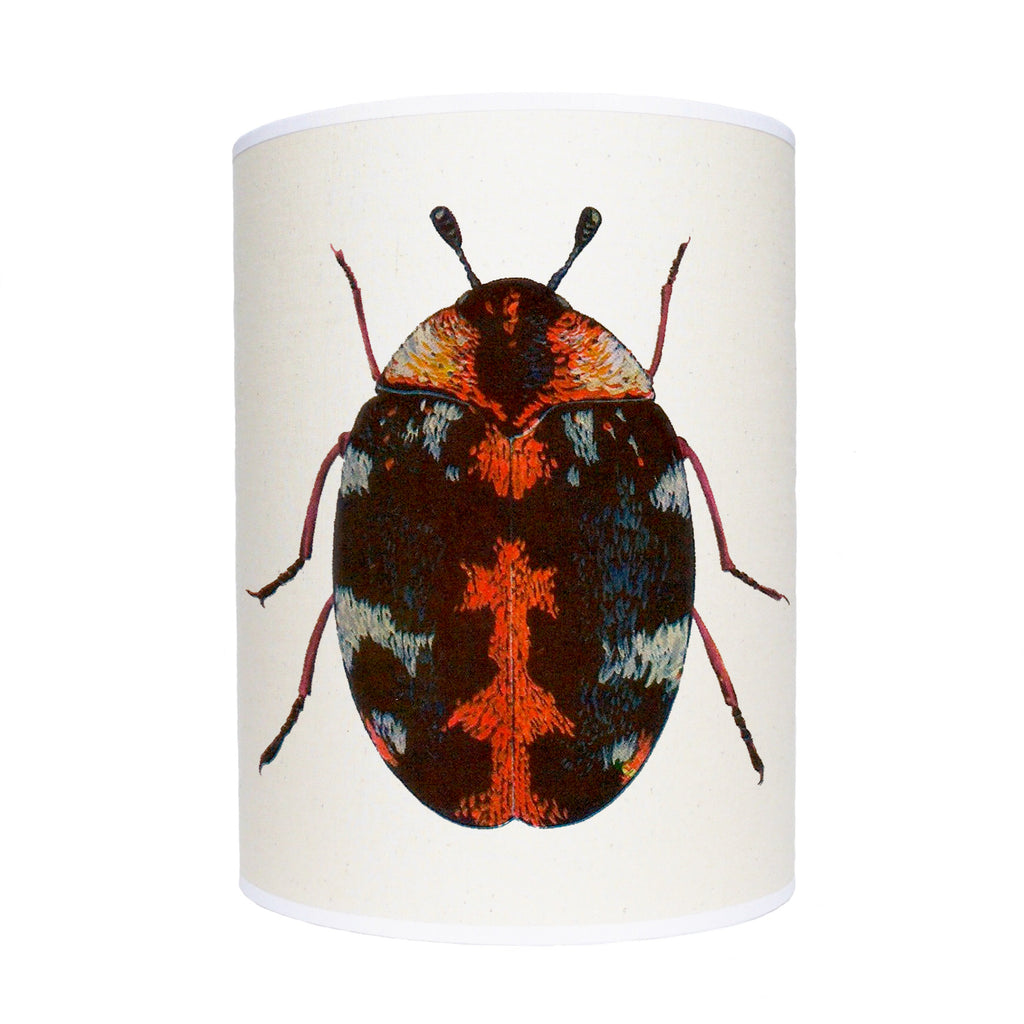 Red beetle lamp shade/ ceiling pendant