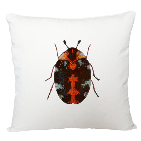 Red beetle cushion cover
