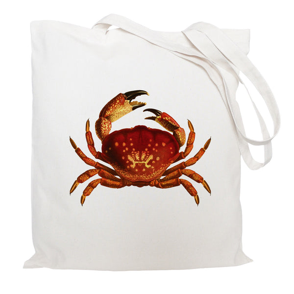 Red crab tote bag