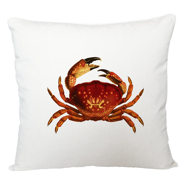 Red crab cushion cover