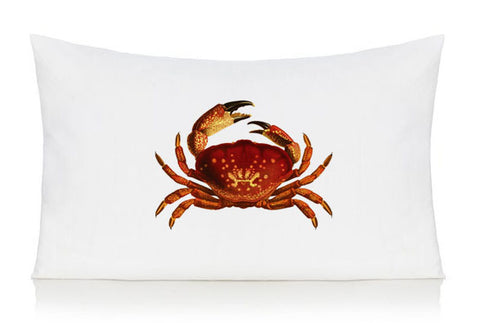 Red crab pillow case