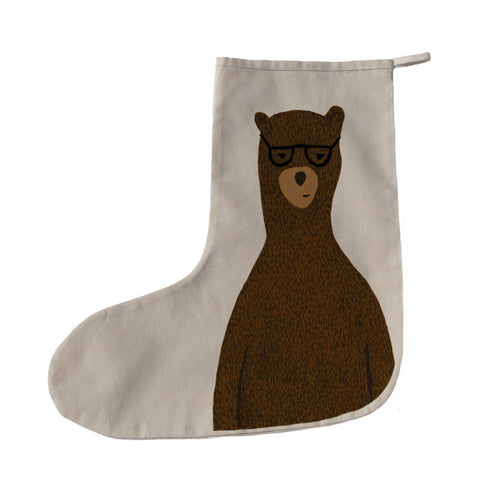 Reginald the bear Christmas stocking