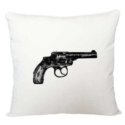 Vintage gun cushion cover