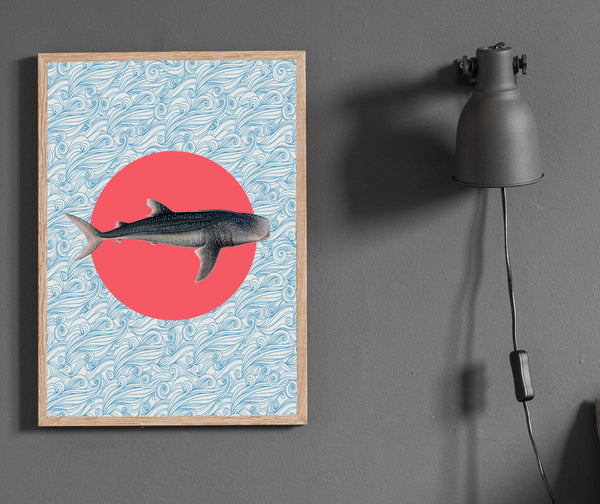 Shark print/ wall art