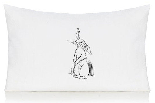 Sketched Rabbit pillow case