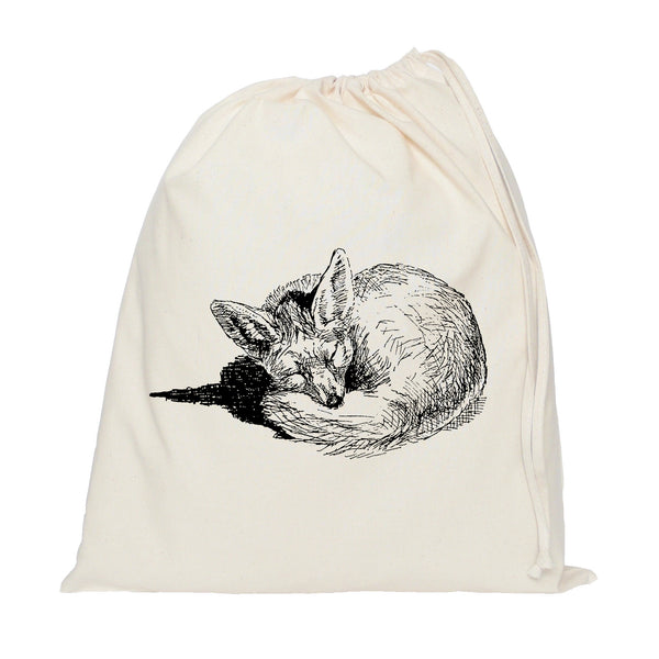 Sleeping fox drawstring bag