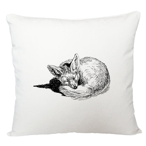 Sleeping fox cushion cover
