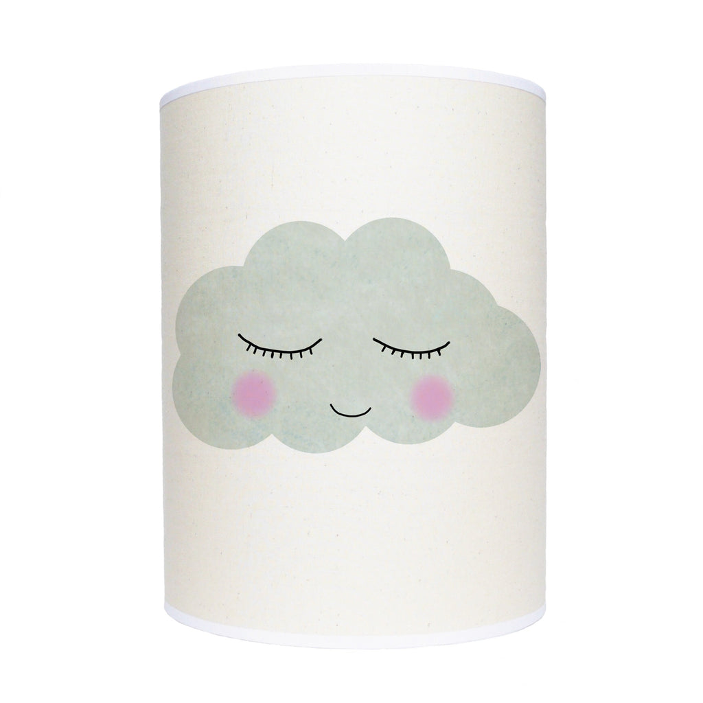 Sleepy face cloud lamp shade/ ceiling shade