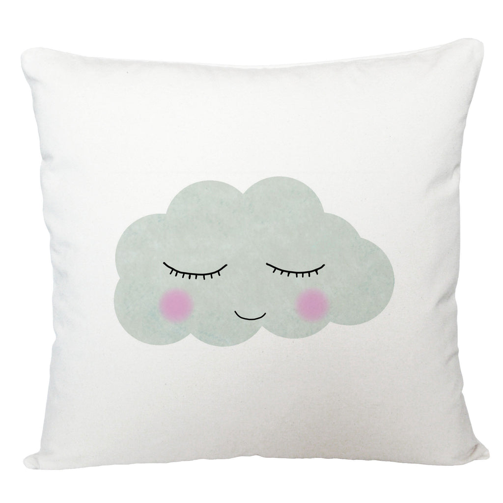 Sleepy face cloud cushion cover