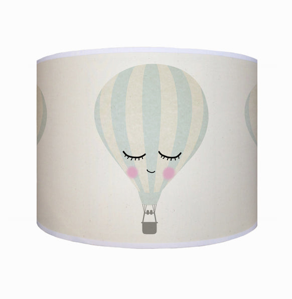 Hot air balloon, sleepy face shade