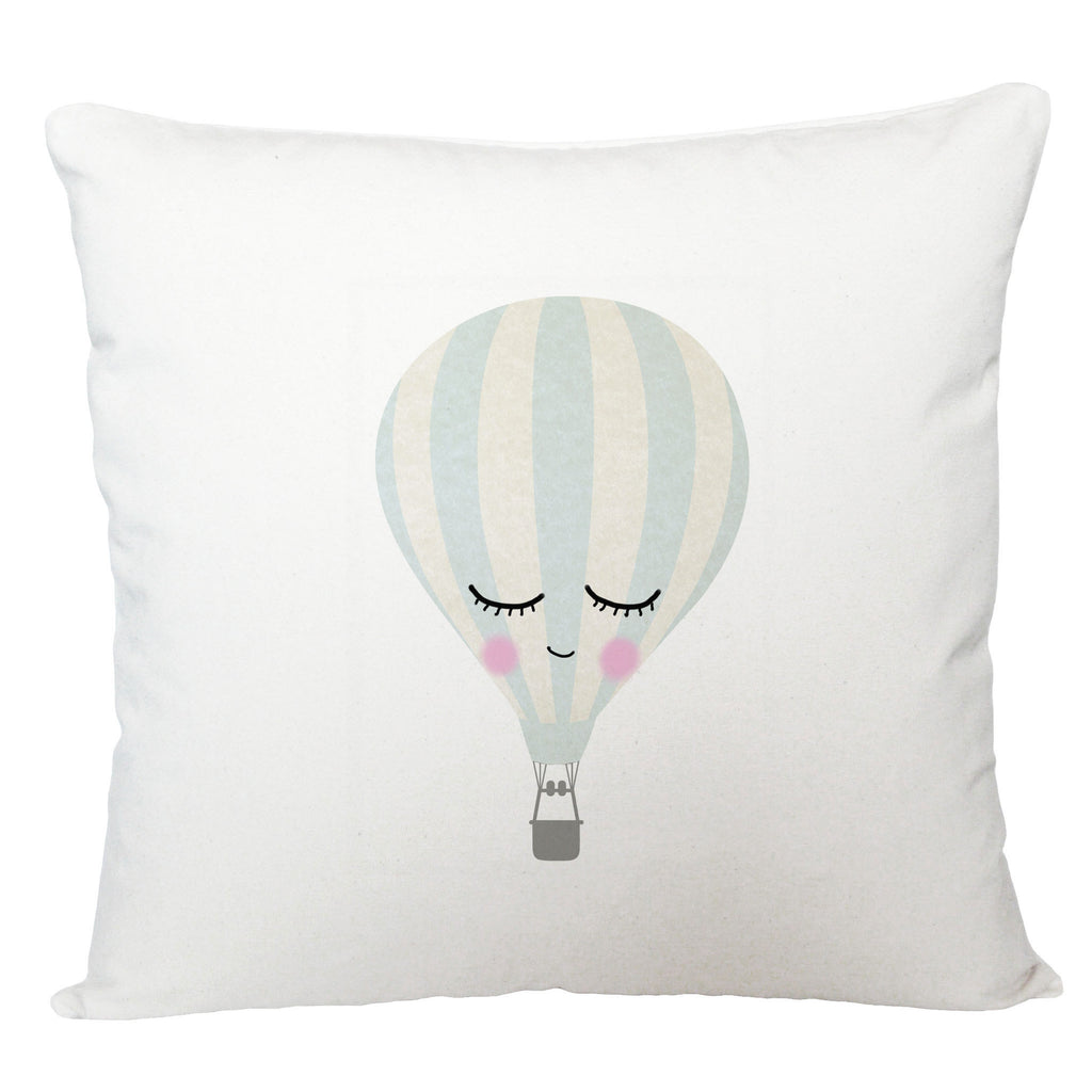 Sleepy hot air balloon cushion cover