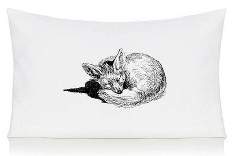 Sleeping fox pillow case