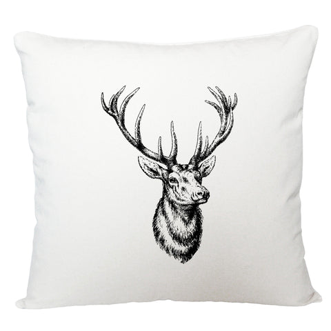 Stag head cushion cover