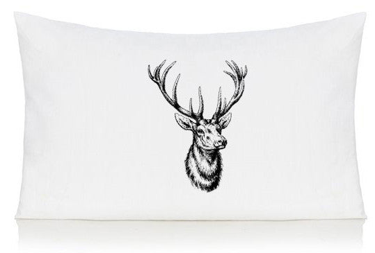 Stag head pillow case